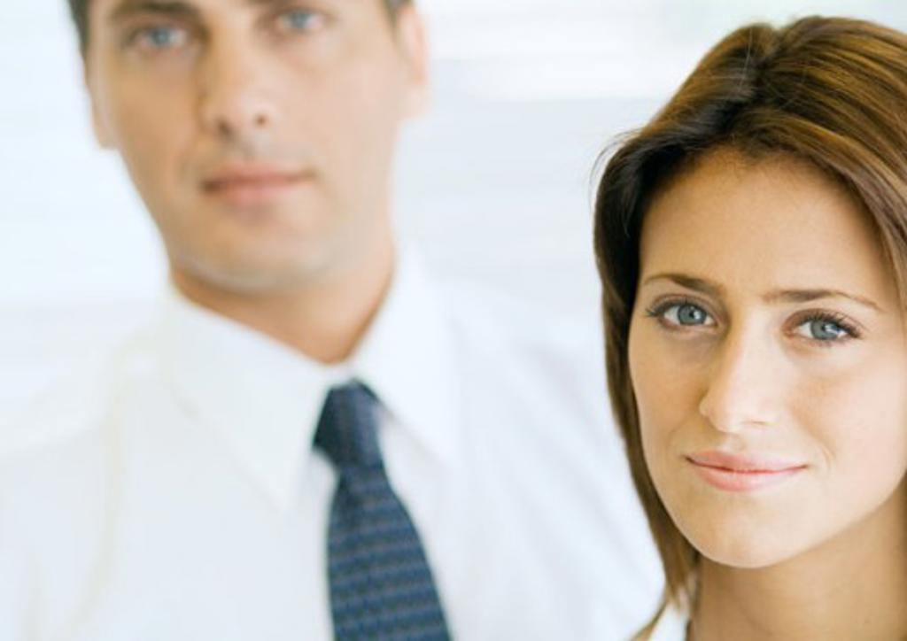 Two business associates, portrait : Stock Photo