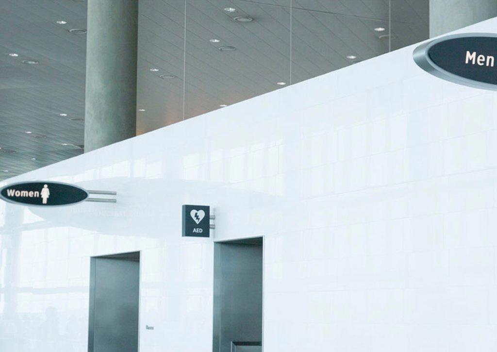 Public restrooms : Stock Photo
