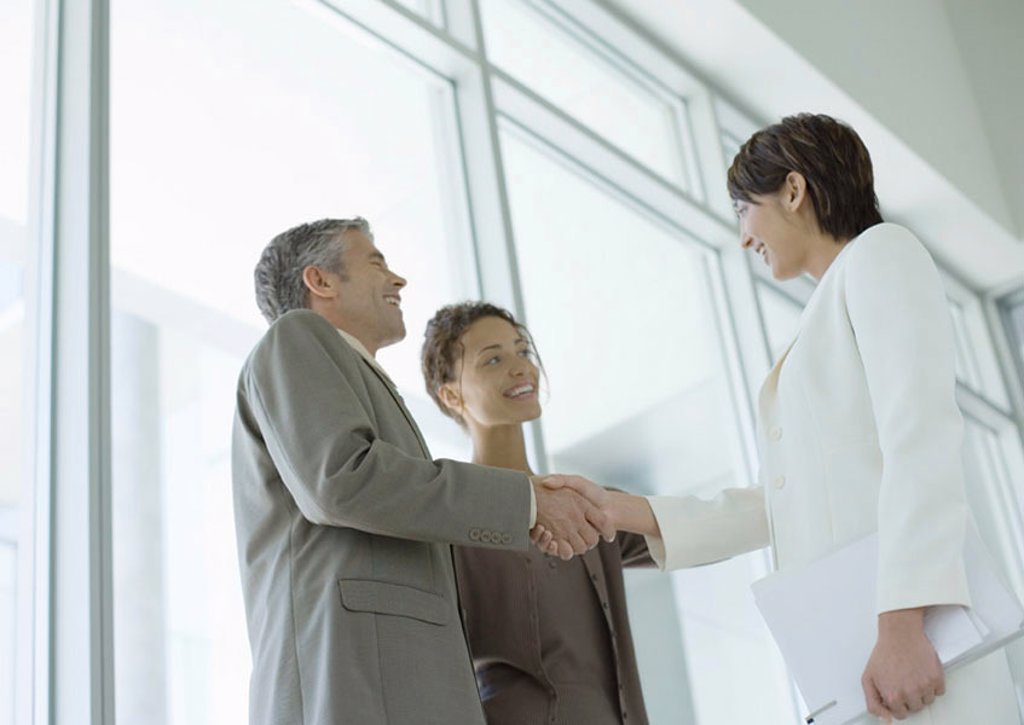 Business people shaking hands : Stock Photo