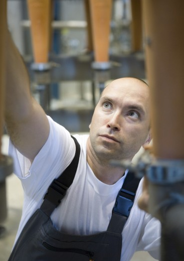 Stock Photo: 1569R-9015082 Factory worker