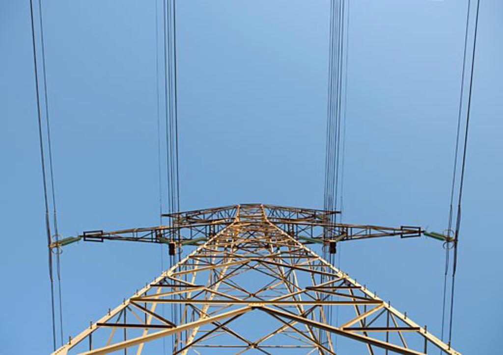 Stock Photo: 1569R-9015119 Electrical pylon