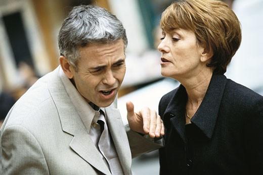Stock Photo: 1569R-9018175 Mature couple having argument