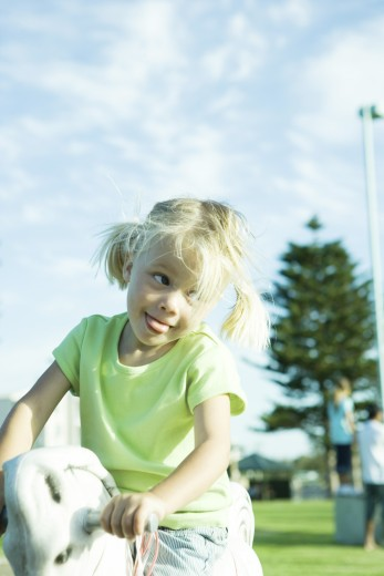 Stock Photo: 1569R-9019491 Girl on playground