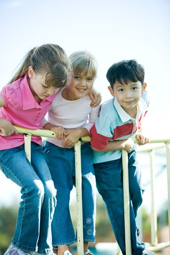 Stock Photo: 1569R-9023351 Children on playground equipment