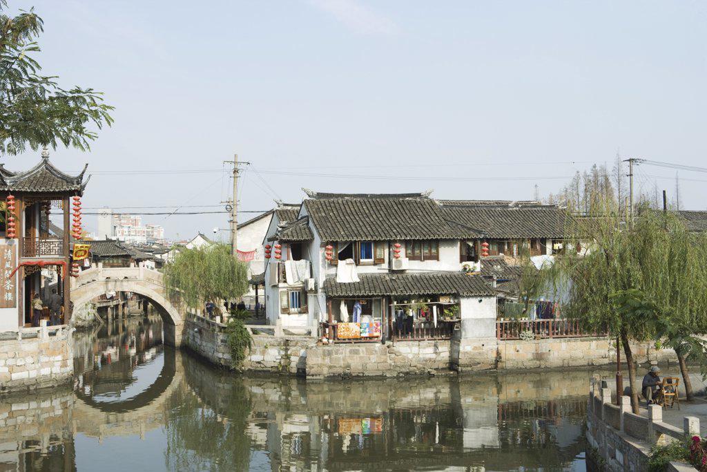 China, Guangdong Province, canals : Stock Photo