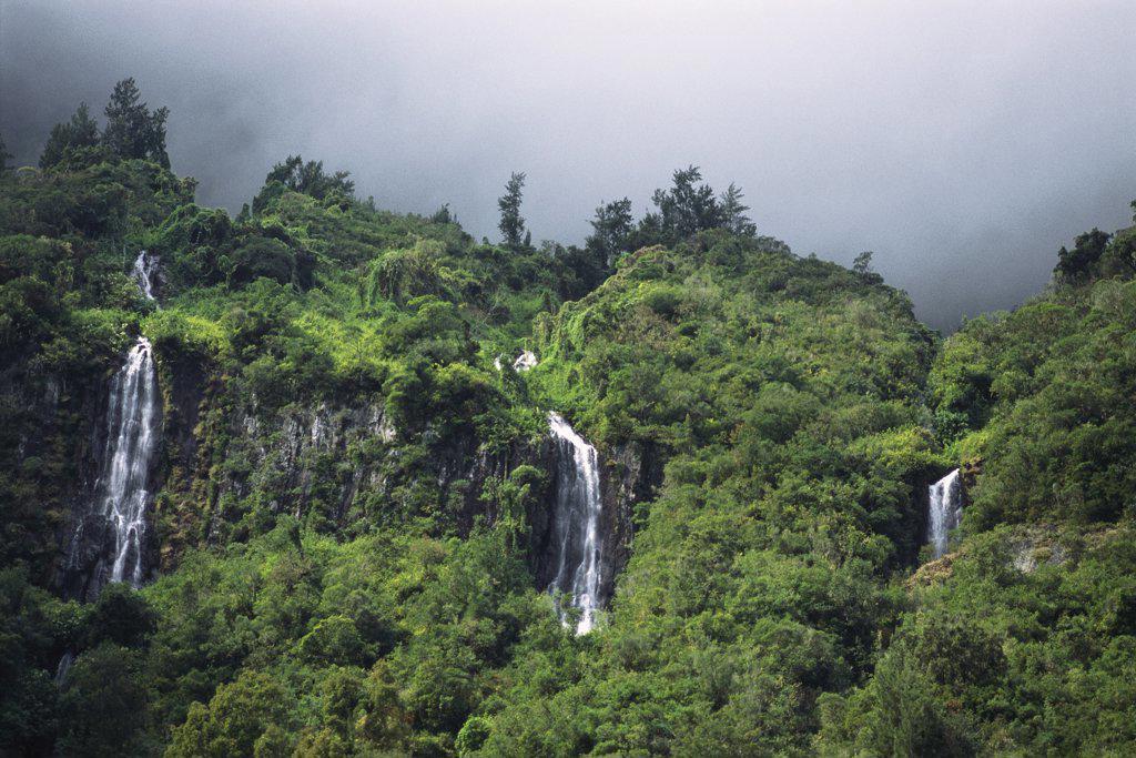 Reunion, waterfalls : Stock Photo