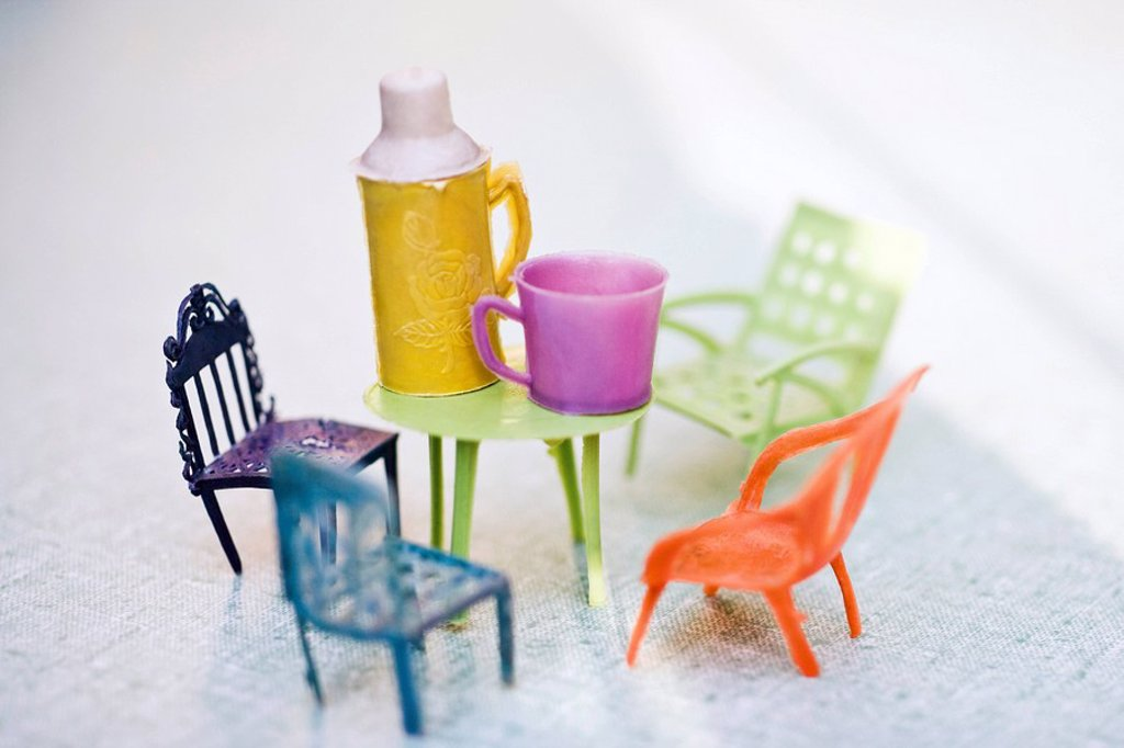 Stock Photo: 1569R-9040377 Toy patio furniture