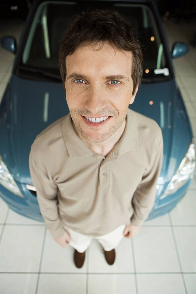 Stock Photo: 1569R-9042547 New car owner