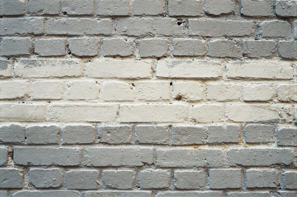 Stock Photo: 1569R-9054902 Painted brick wall