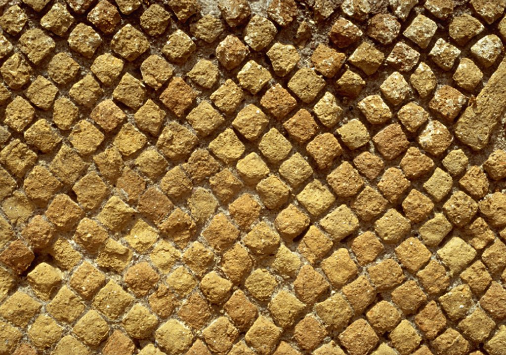 Stone mosaic, close-up, full frame : Stock Photo