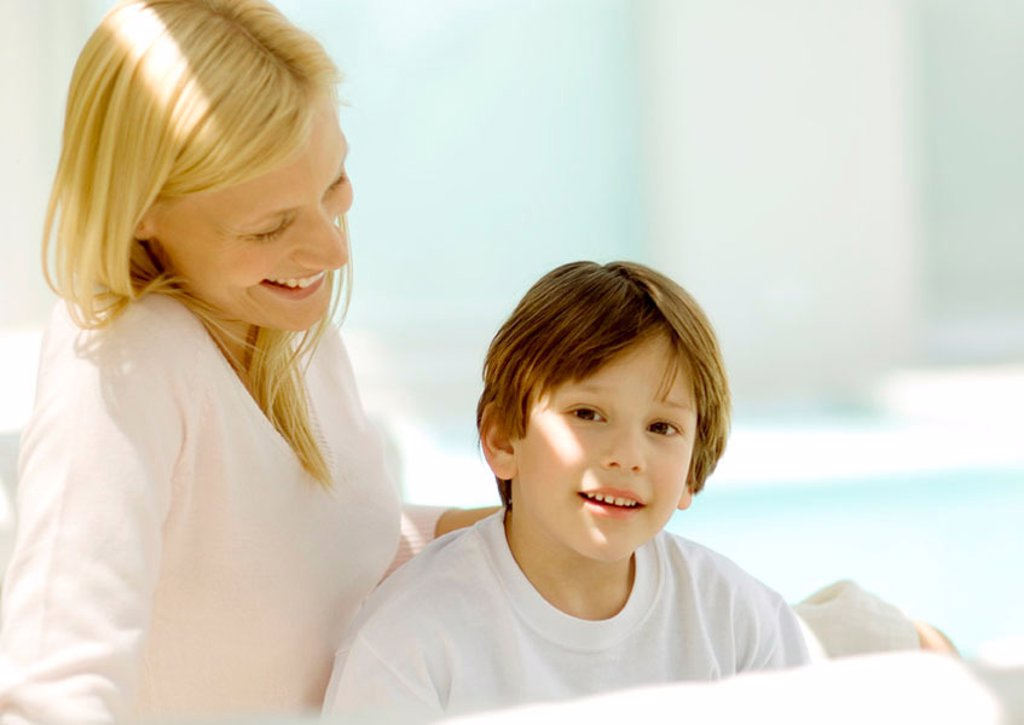 Stock Photo: 1569R-9058749 Mother and son