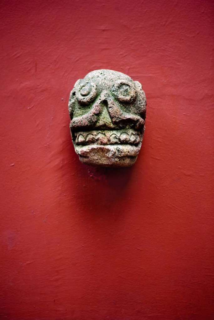Stock Photo: 1569R-9067829 Precolumbian sculpture, Frida Kahlo Museum, Mexico City, Mexico