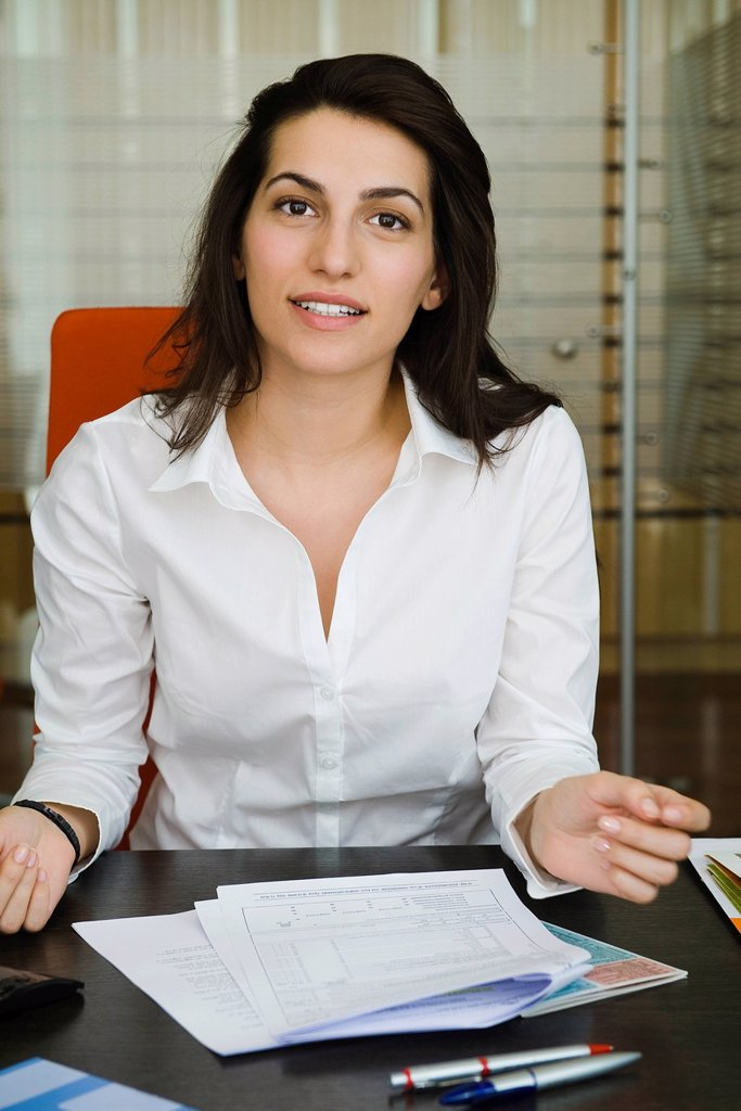 Businesswoman, portrait : Stock Photo