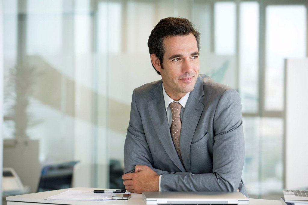 Stock Photo: 1569R-9070377 Male executive, portrait