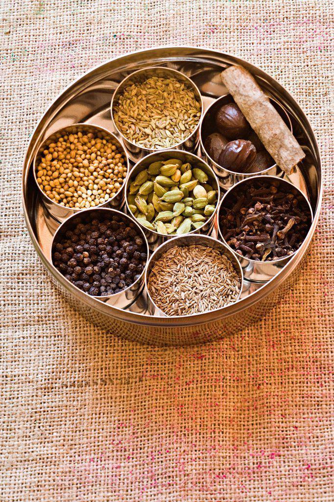 Stock Photo: 1569R-9073709 Ingredients for garam masala