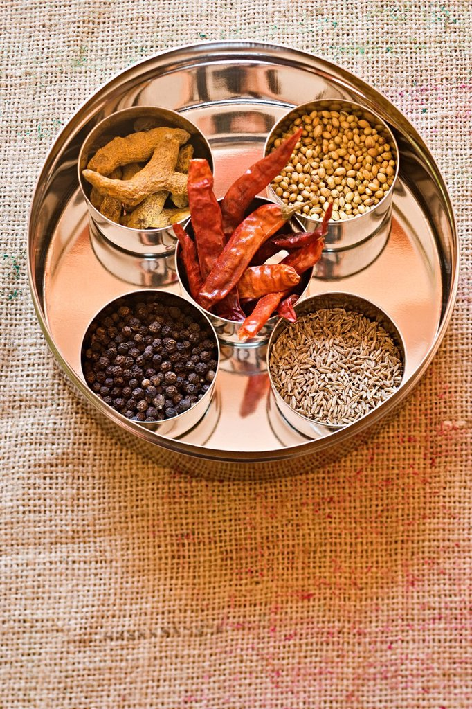 Stock Photo: 1569R-9073764 Ingredients for masala spice