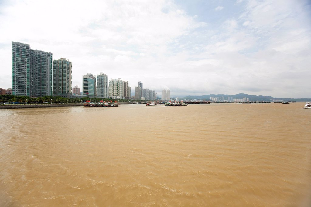 Developed coast, Shandong province, China : Stock Photo