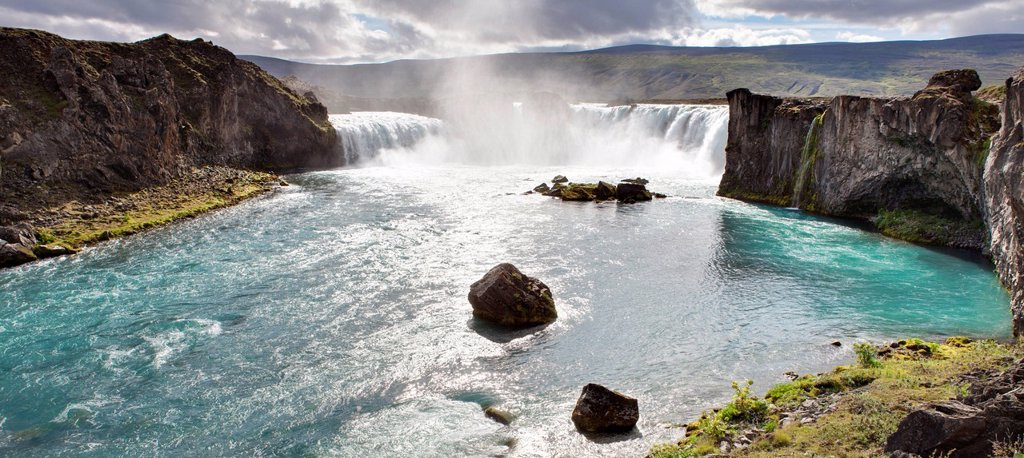 Godafoss Falls, Iceland : Stock Photo