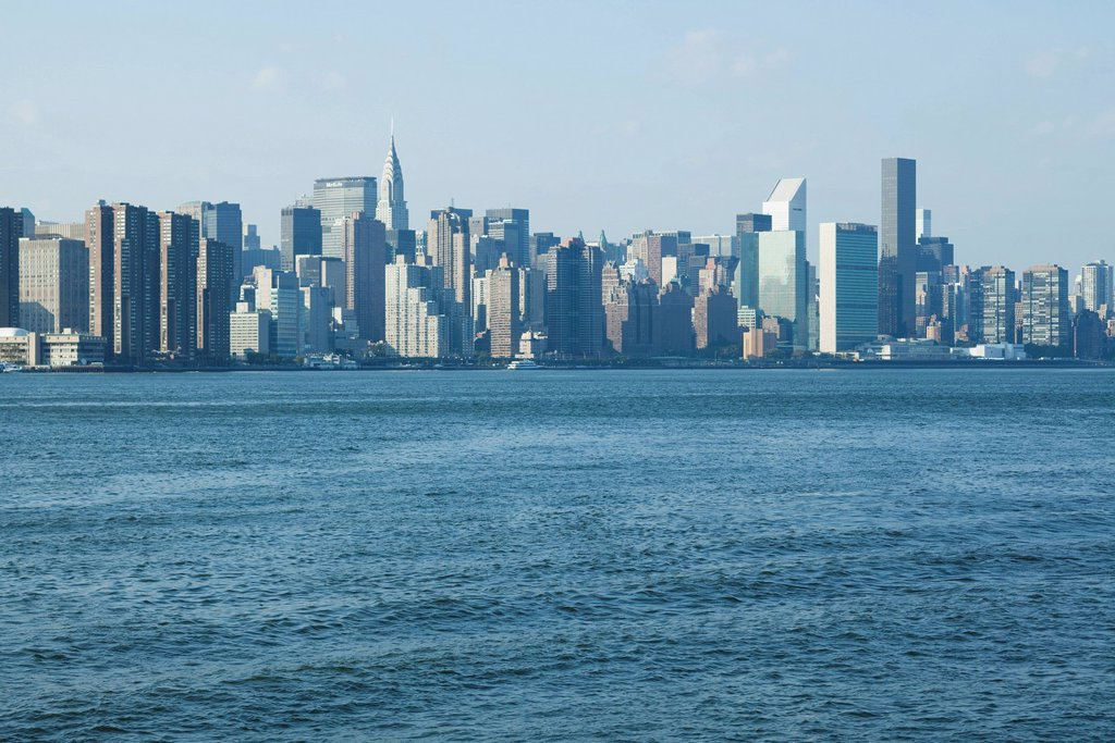 Stock Photo: 1569R-9074441 Skyline of Manhattan, New York City, New York, USA