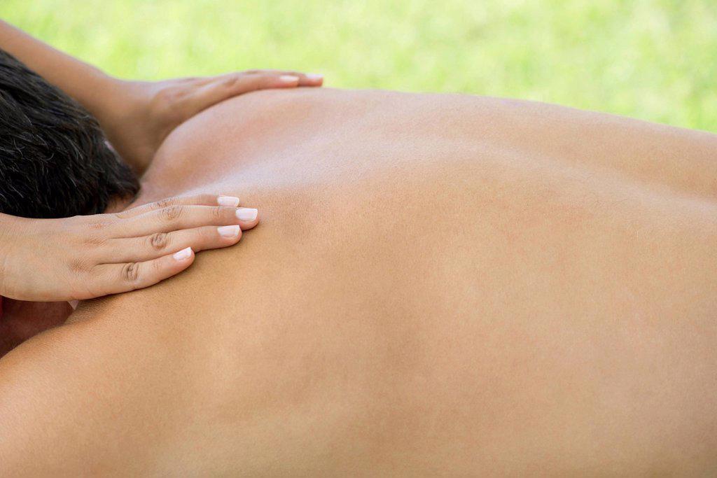 Stock Photo: 1569R-9075625 Man getting massage