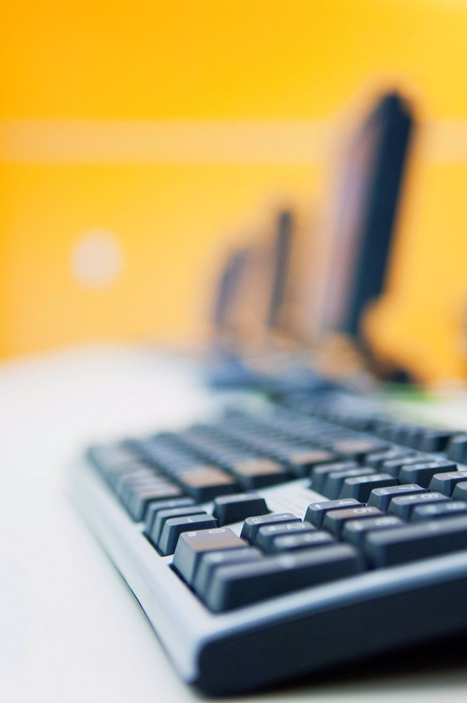 Close_up of computer keyboard : Stock Photo