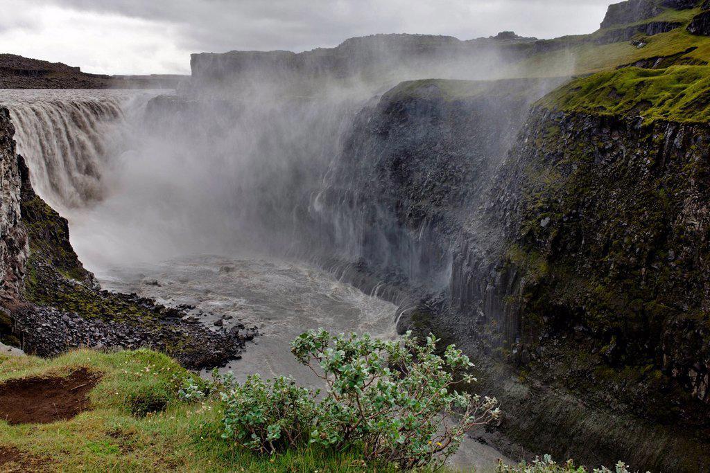 Dettifoss waterfall, Vatnajokull National Park, Iceland : Stock Photo