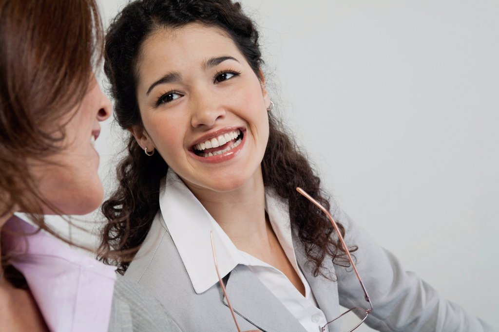 Stock Photo: 1569R-9080010 Businesswomen chatting