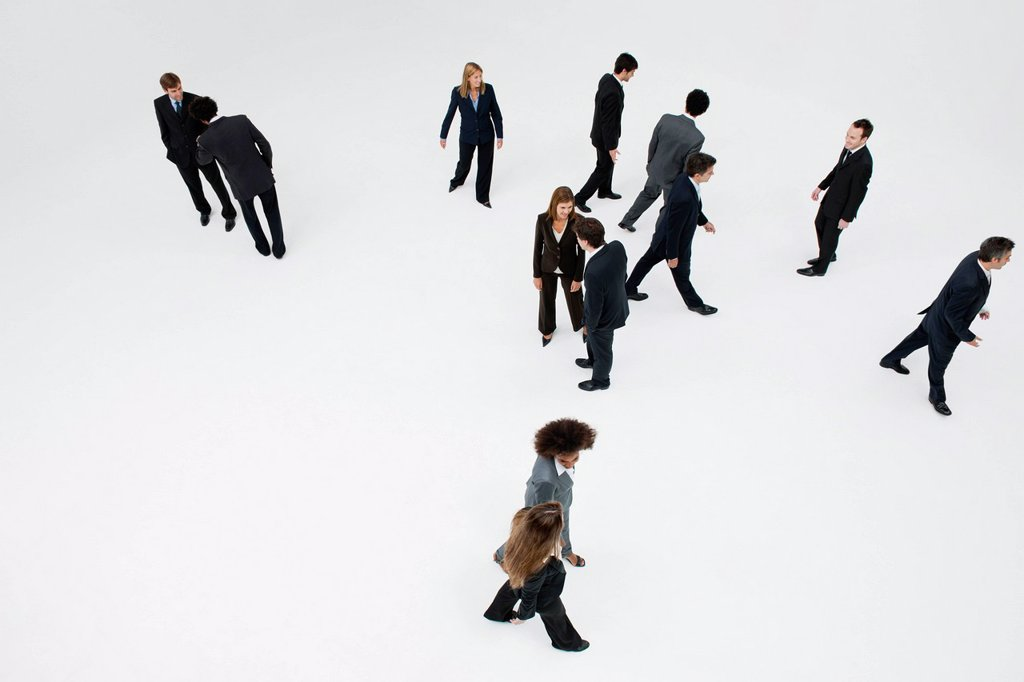 Stock Photo: 1569R-9080613 Business professionals on the move