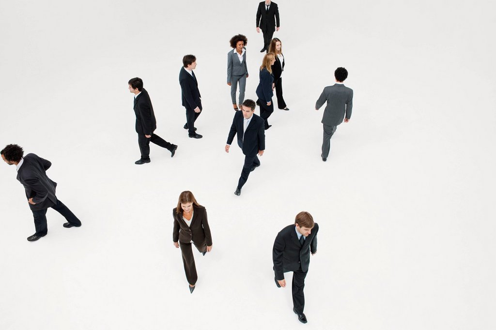 Stock Photo: 1569R-9080624 Business professionals on the move