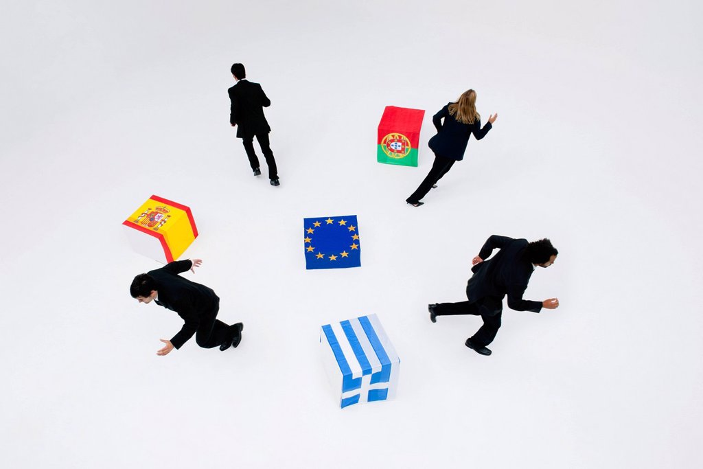Stock Photo: 1569R-9080865 Greece, Portugal and Spain consider leaving the European Union due to economic recession