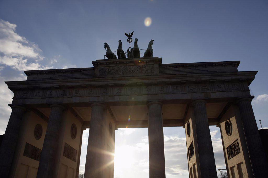 Stock Photo: 1570R-01073 Brandenburg Gate, Berlin, Germany