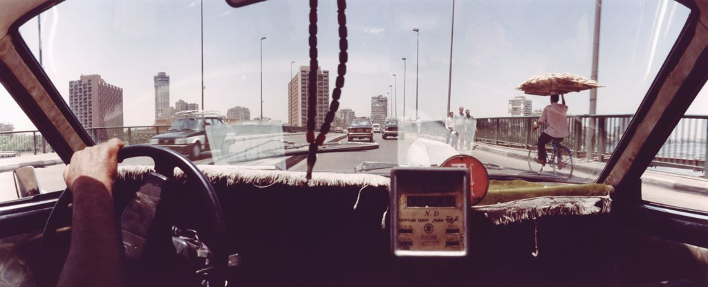 Stock Photo: 1570R-01202 View from taxi interior, Cairo, Egypt