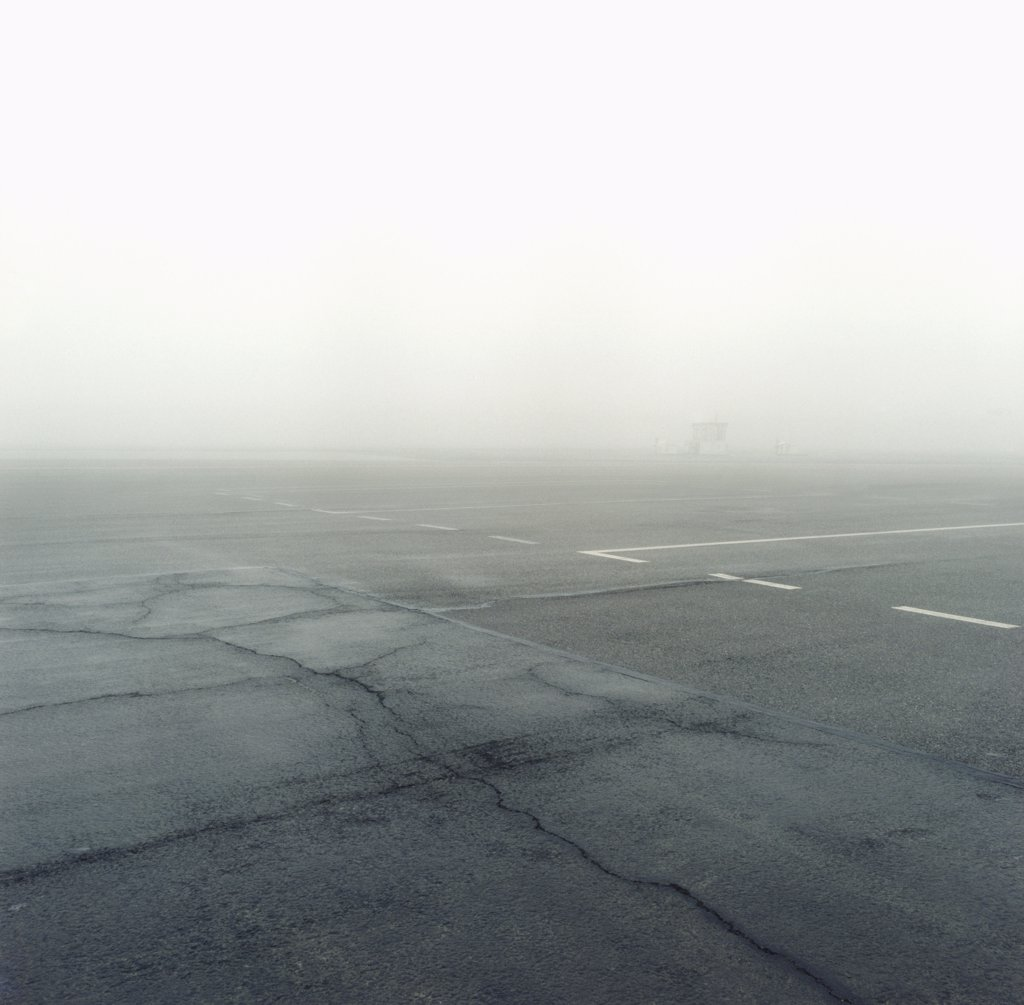 Airport runway, Germany : Stock Photo