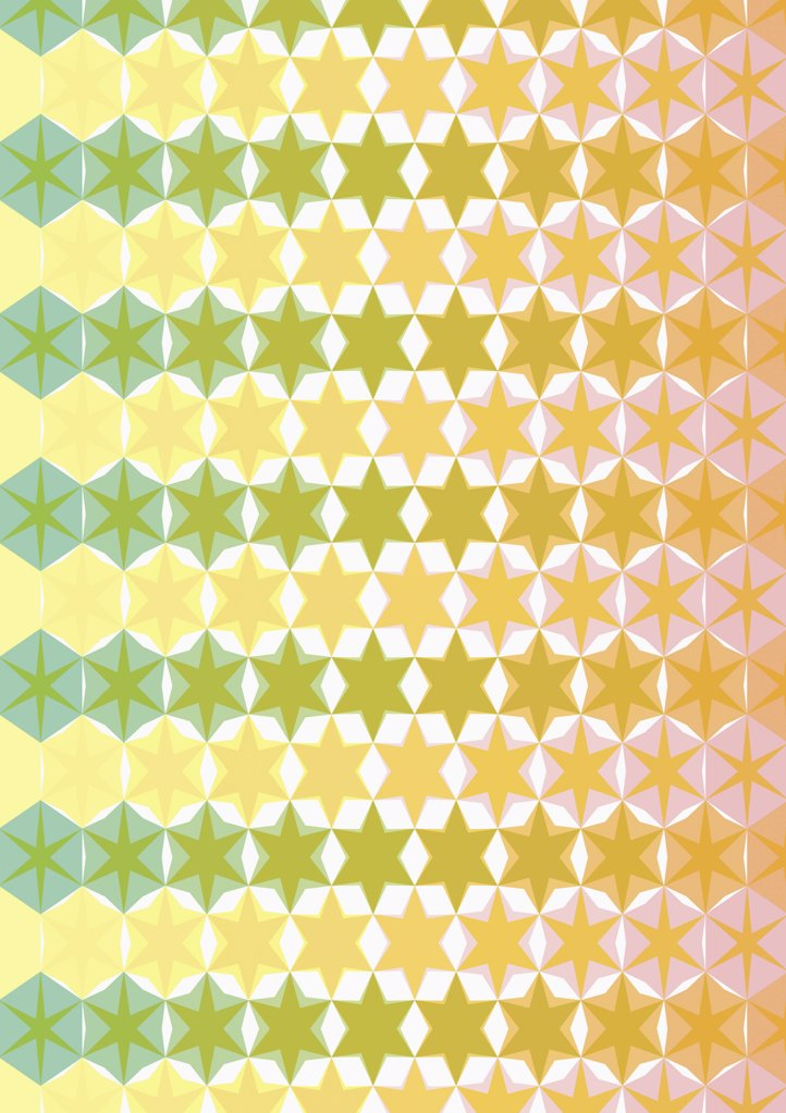 illustrated pattern featuring stars : Stock Photo