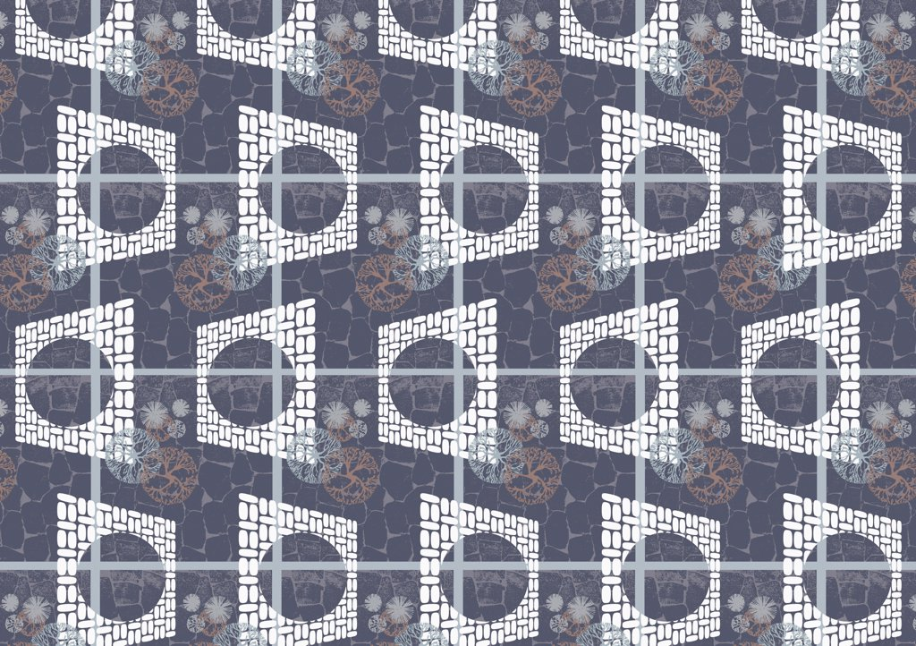 Stock Photo: 1570R-10040 illustrated abstract pattern
