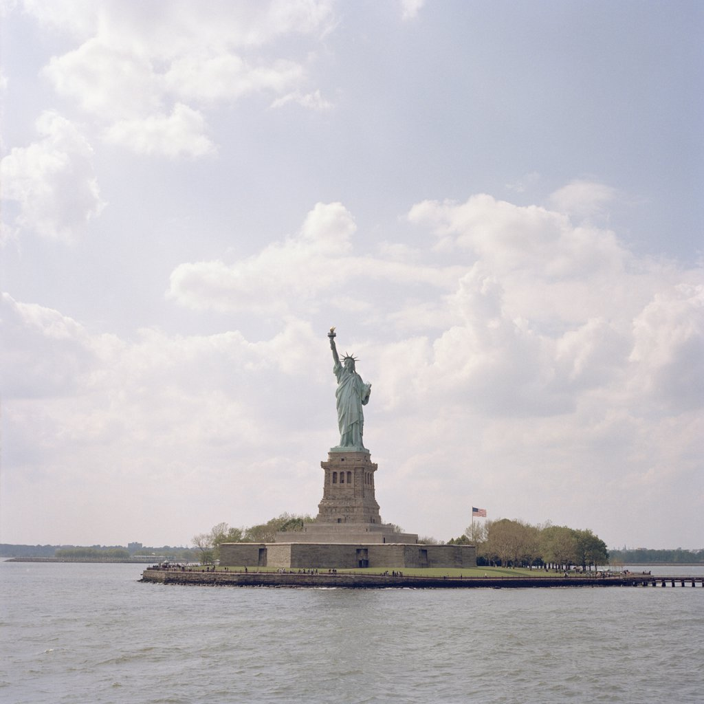 Statue of Liberty, Liberty Island, Hudson River, New York City : Stock Photo