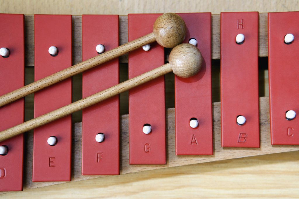Stock Photo: 1570R-113846 Close-up of xylophone