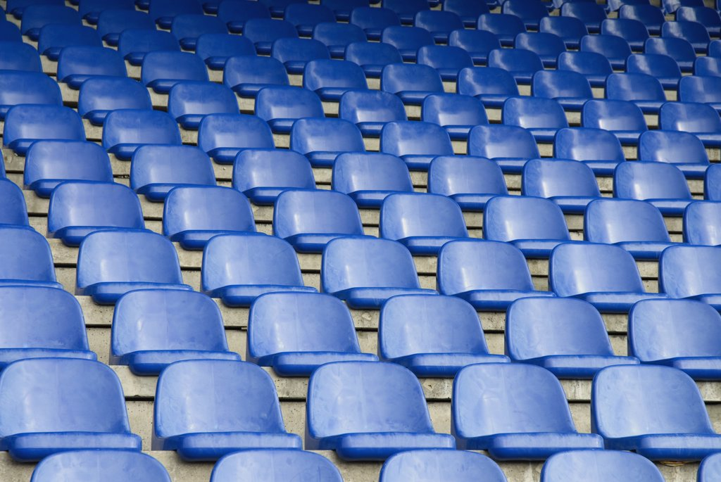 Stock Photo: 1570R-115009 Empty seats in a sports stadium