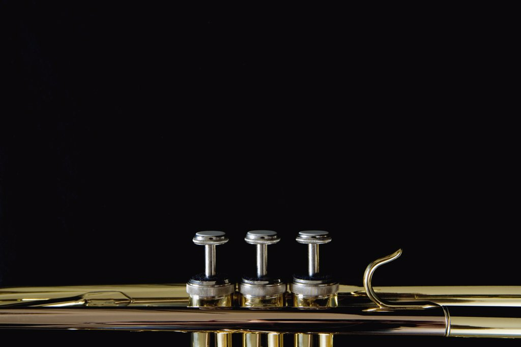 Stock Photo: 1570R-115575 Detail of a trumpet