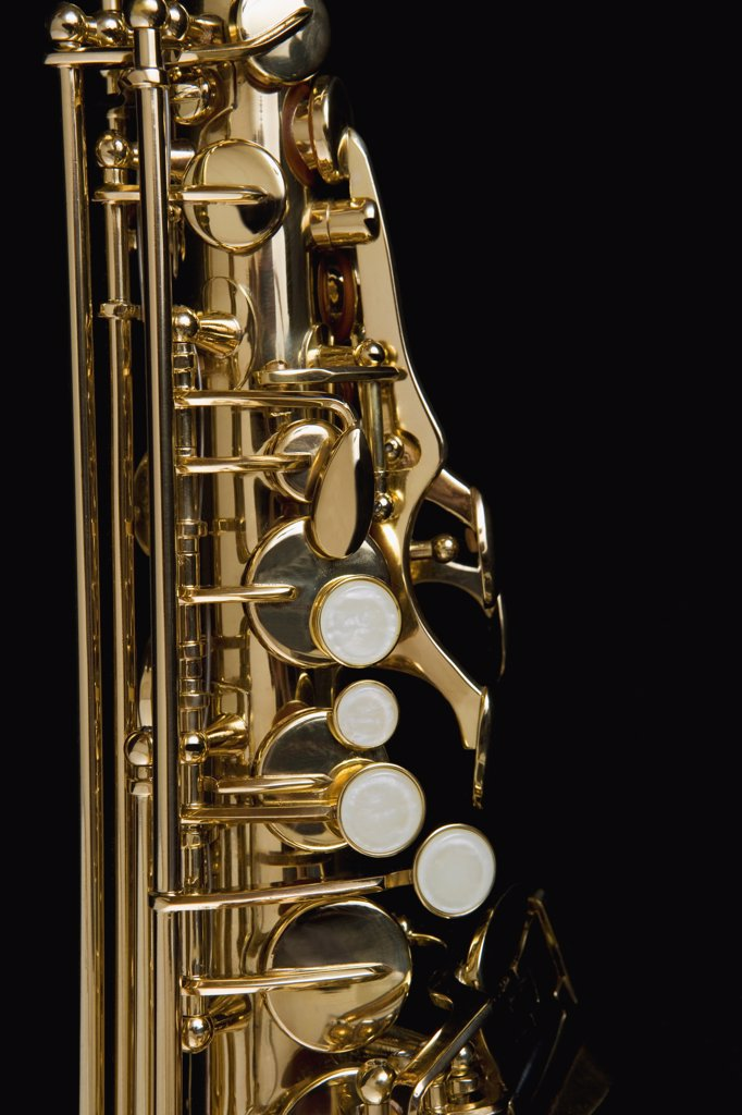 Stock Photo: 1570R-115604 Detail of a saxophone