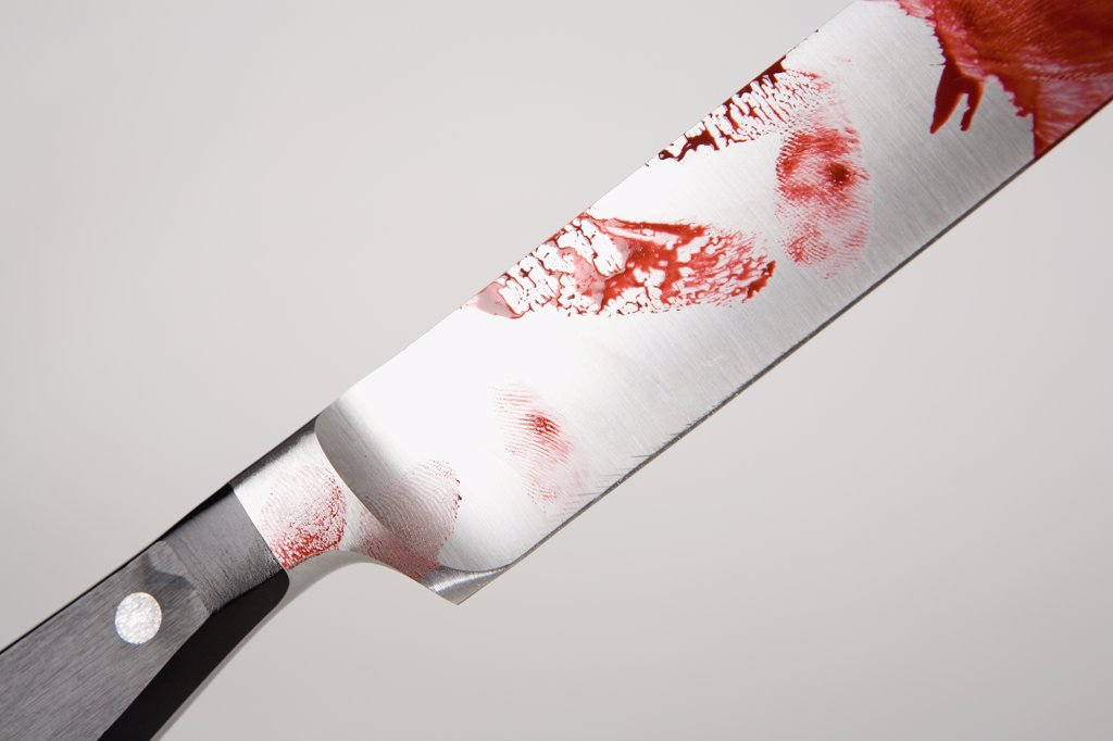 Stock Photo: 1570R-118440 A knife with blood on it