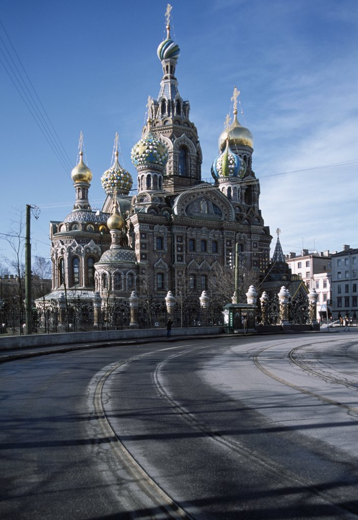 Stock Photo: 1570R-119144 Church of the Savior on Spilled Blood, St Petersburg, Russia