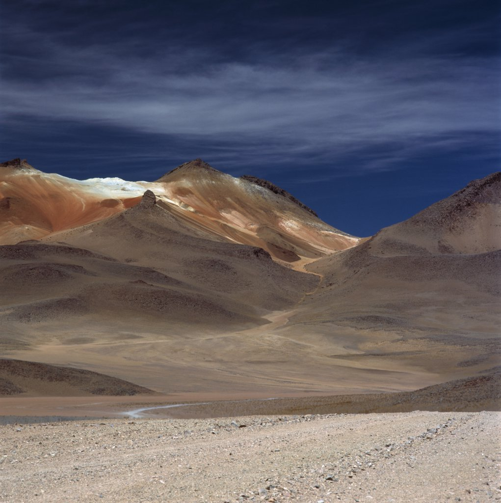 Stock Photo: 1570R-119821 Mountains in barren landscape, Andes, Bolivia