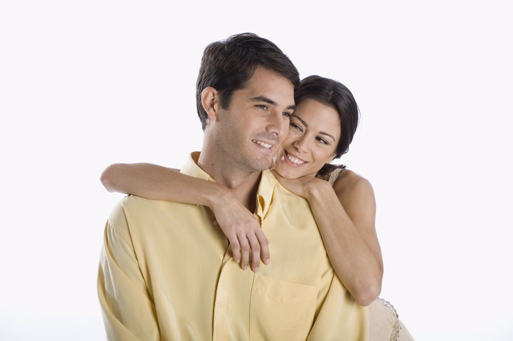 A young couple smiling : Stock Photo