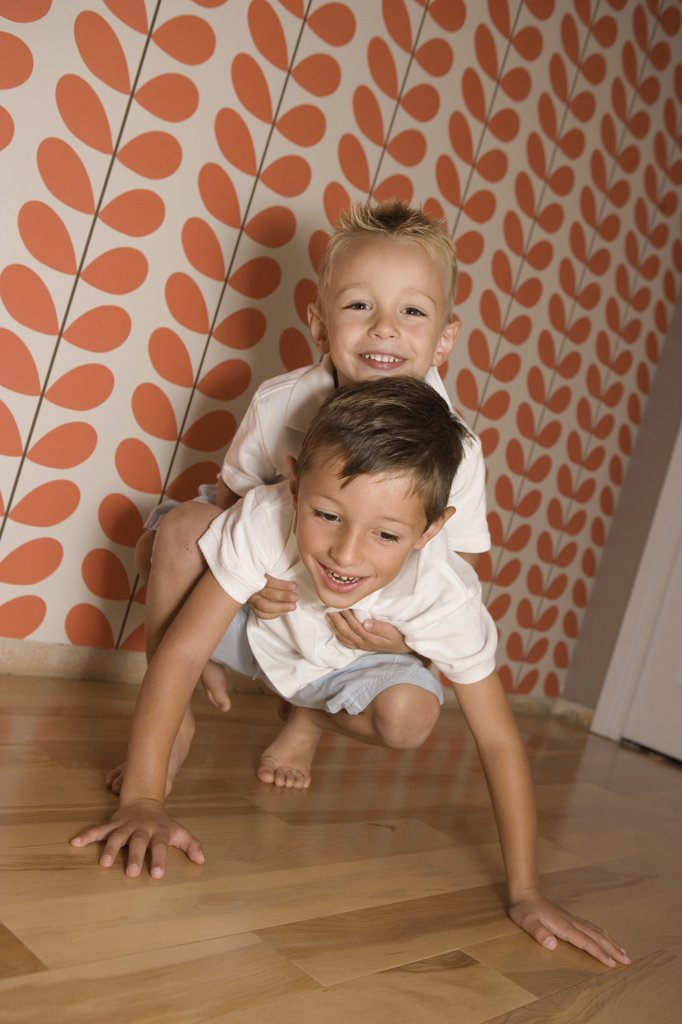 Stock Photo: 1570R-121857 Two Young Boys playing