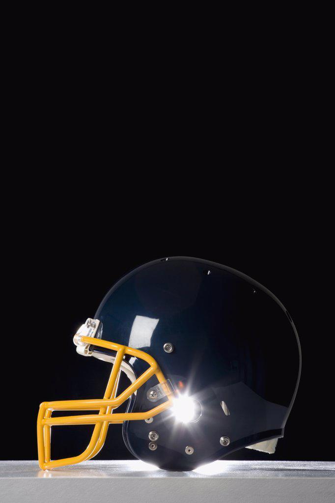 Stock Photo: 1570R-122426 Still life studio shot of a American football helmet