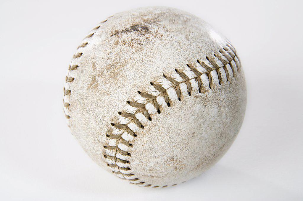 Stock Photo: 1570R-122465 Close-up studio shot of a baseball