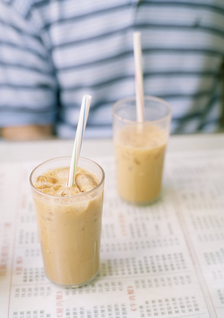 Stock Photo: 1570R-122951 Two milkshakes on a table