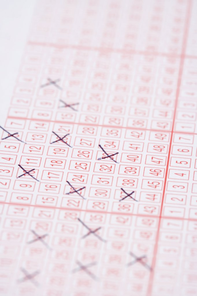 Stock Photo: 1570R-123537 A lottery ticket