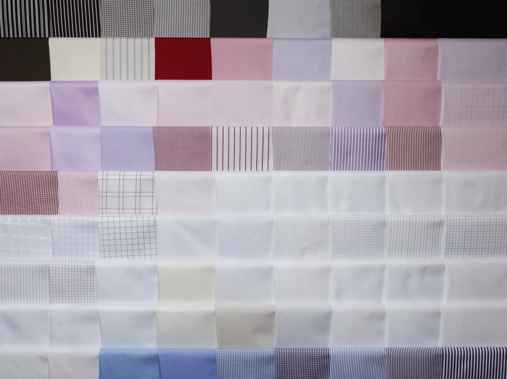 Stock Photo: 1570R-124830 Colored fabric swatches